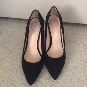 Nine West suede pumps with chunky heel
